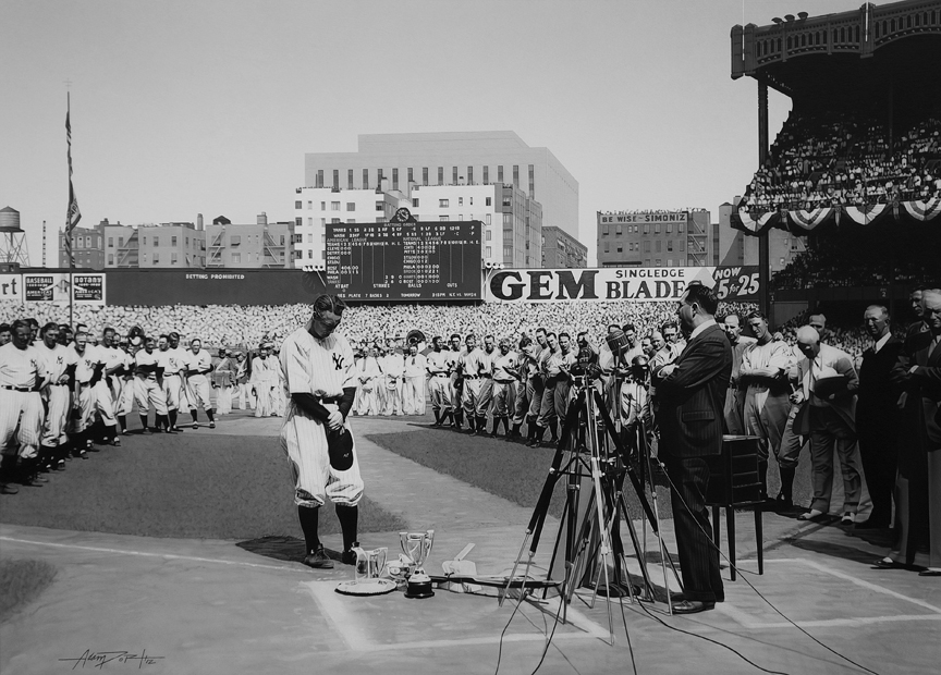 Image result for lou gehrig's farewell speech