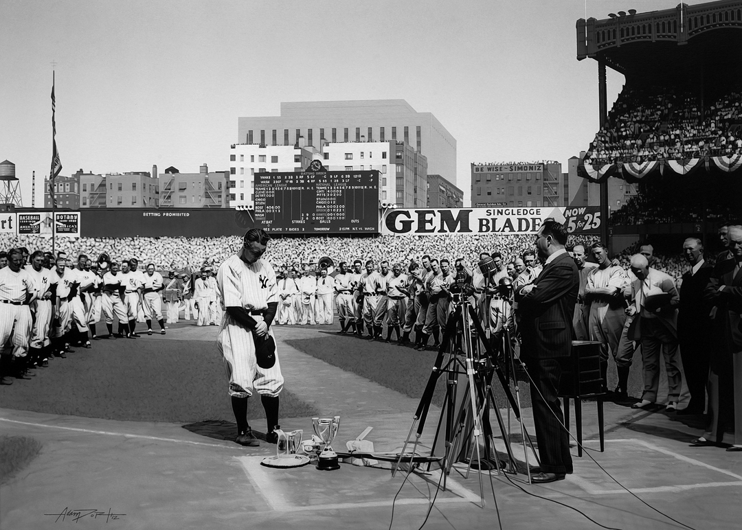 Lou Gehrig Original Painting
