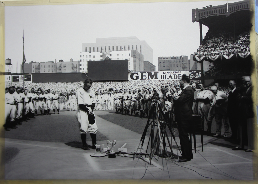 Lou Gehrig Painting in Progress