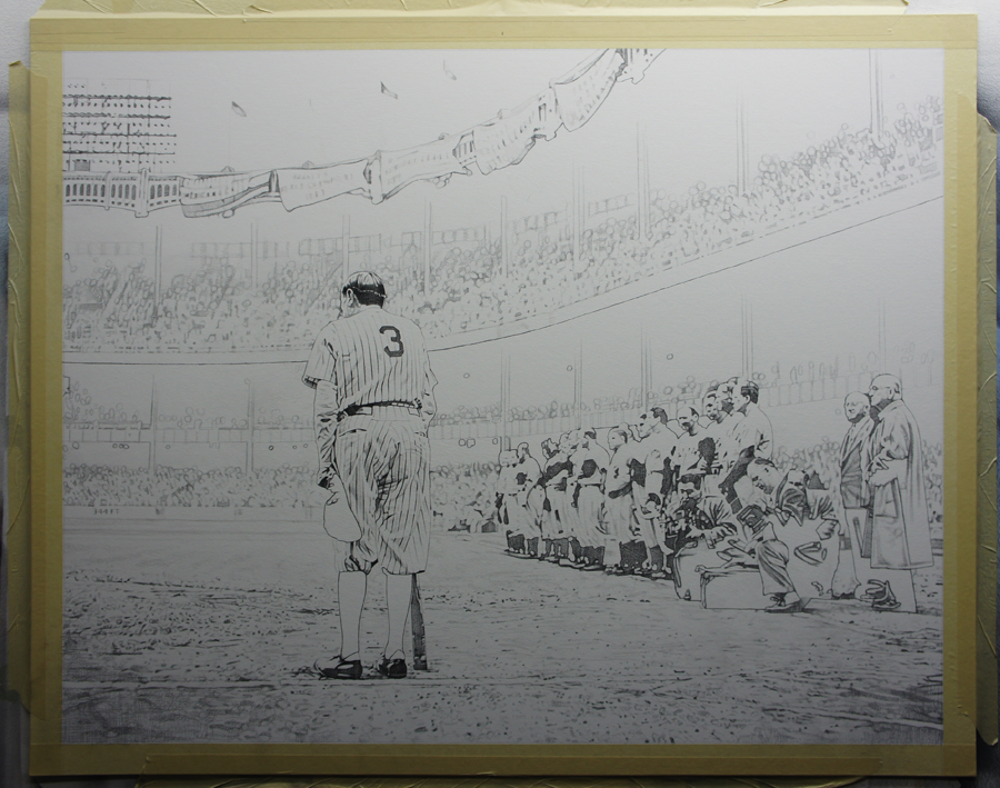 Babe Ruth Underdrawing