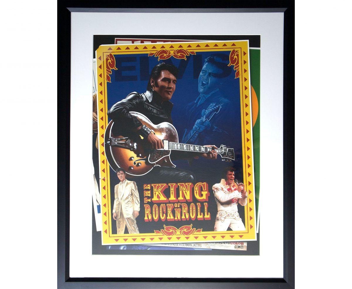 Elvis the King of Rock N Roll Painting