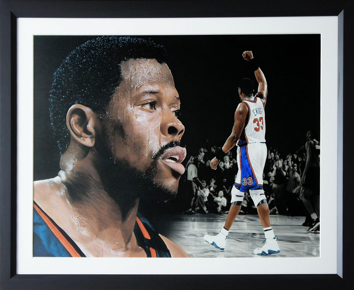Patrick Ewing Painting Framed