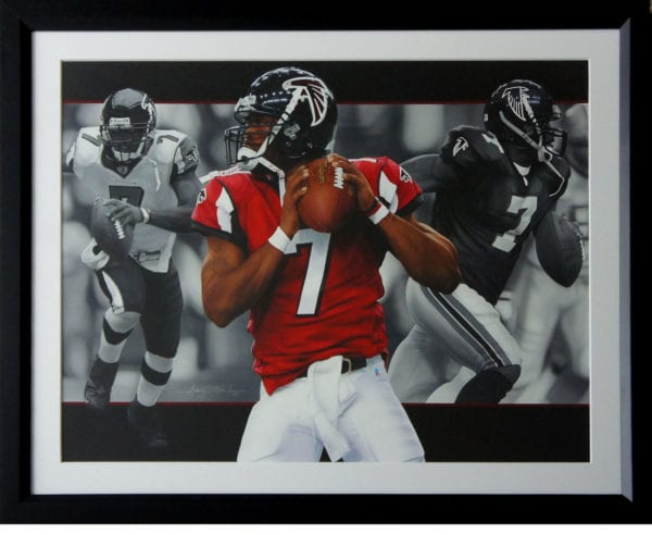 Michael Vick Painting Framed