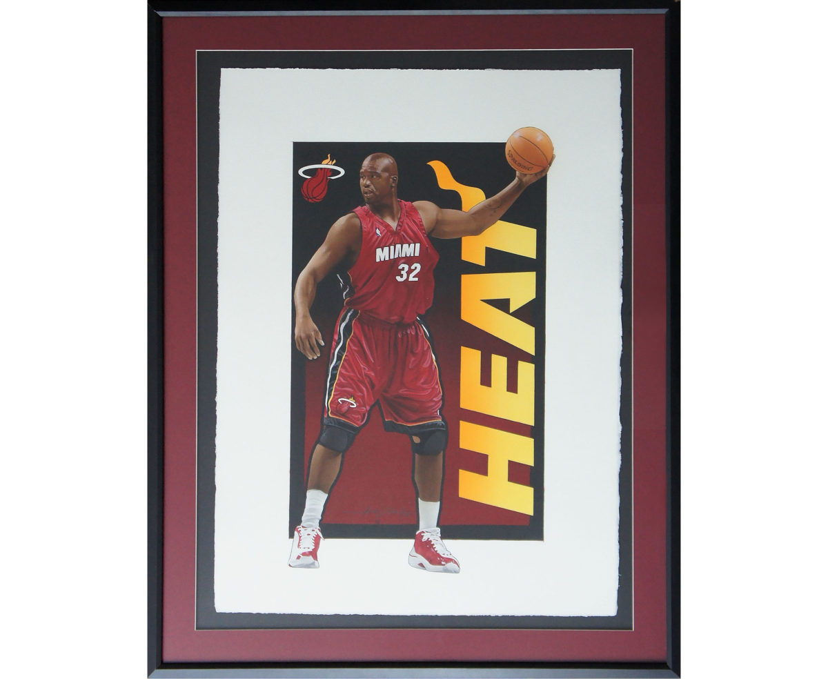 Shaq Painting Framed