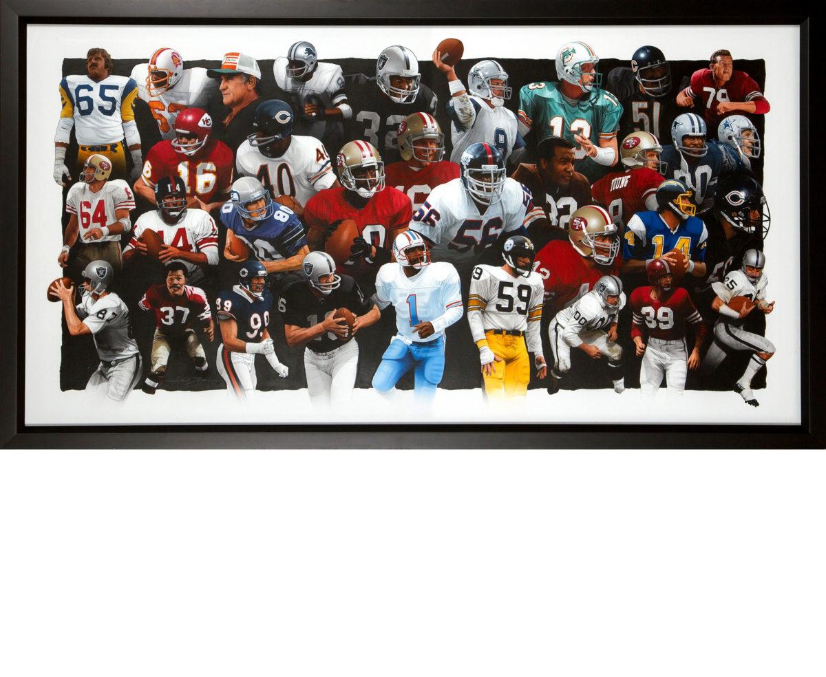 Legends of Football Framed