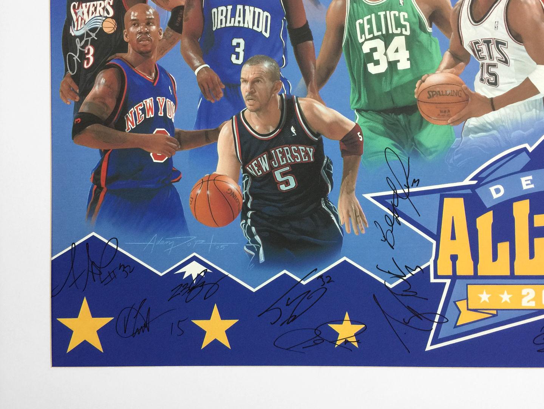 NBA ALL STARS PRINT CLOSE UP - Left