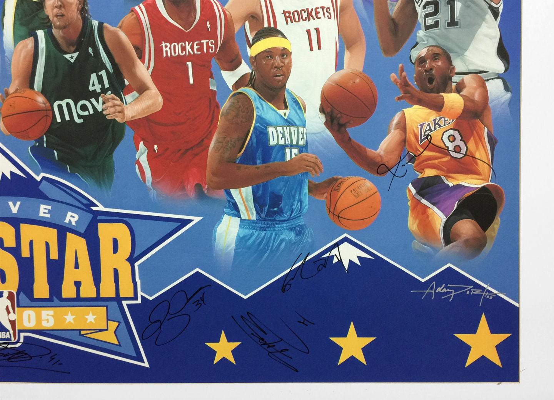 NBA ALL STARS PRINT CLOSE UP - Right