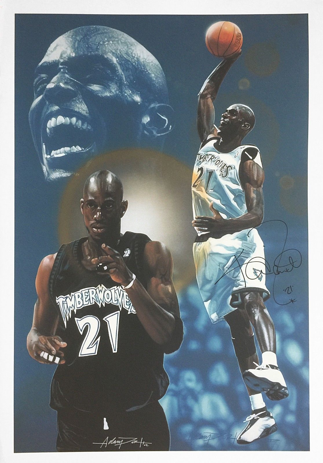 check out 4d4f2 87039 Kevin Garnett Signed Giclee Print