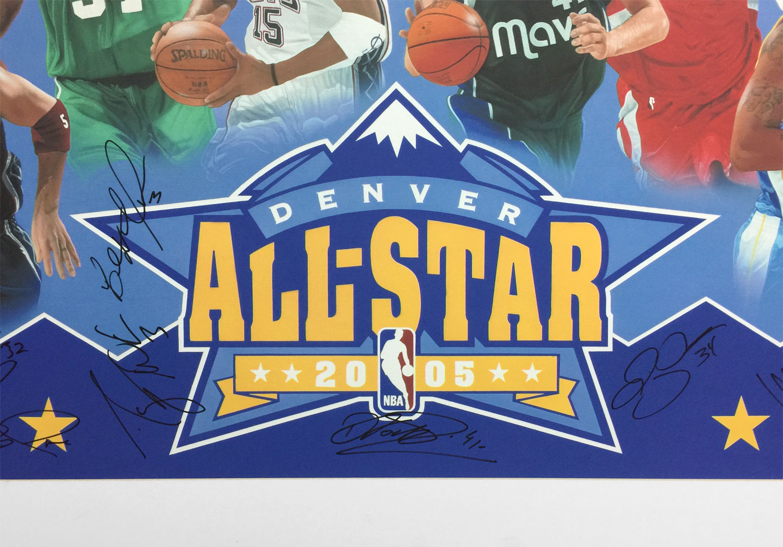 NBA ALL STARS PRINT CLOSE UP - Center